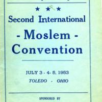 Second International Moslem Convention program cover
