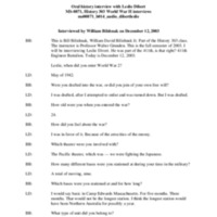 Leslie Dibert audio oral history interview