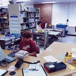 Curriculum Resource Center reference desk and stacks