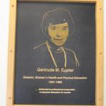 Gertrude M. Eppler memorial plaque