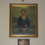 Myrna Reese Hanna portrait and plaque
