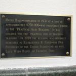 Hayes Hall Dedication Plaque
