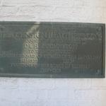 Johnston Health Building plaque