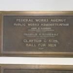 Clayton C. Kohl Hall for Men plaque