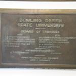 Kohl Hall Board of Trustees Plaque