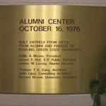 Mileti Alumni Center plaque