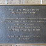 Moore Musical Arts Center plaque