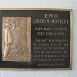 Edwin Lincoln Moseley plaque