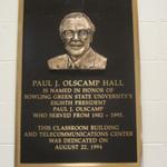 Paul J. Olscamp Hall plaque