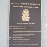Doyt L. Perry Stadium plaque
