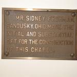 Sidney Frohman plaque