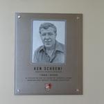 Ken Schoeni memorial plaque
