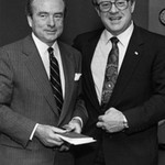 Chuck Perry with President Olscamp