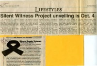 """""""Silent Witness Project unveiling is Oct. 4"""""""