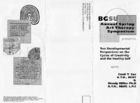 Flier for BGSU annual spring art therapy symposium