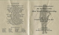 Program for remembrance ceremony for 2008 Slient Victim Project Unveiling