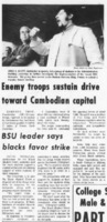 """BSU leader says blacks favor strike"""