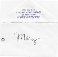 Congratulations card to Mary Krueger