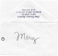 Congratulations card to Mary Krueger