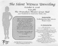 Flier for 2008 silent witness unveiling