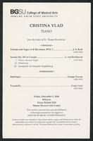 Cristina Vlad, Piano