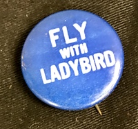FLY WITH LADYBIRD button