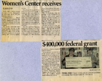 """Women's Center receives $400,000 federal grant"""