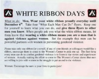 Flier for White Ribbon Days