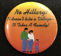 No Hillary! Button