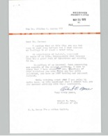 Letter from Robert O. Bone to BGSU President William T. Jerome