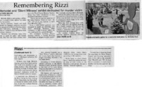 """""""Remembering Rizzi - Memorial and 'Silent Witness' exhibit dedicated to murder victim"""""""