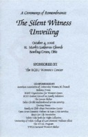 Program for ceremony of remembrance at silent witness unveiling
