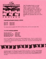 Flier for the Clothesline Project activities