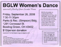 Flier for Bowling Green Lavender Women Women's Dance