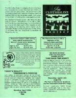 Flier for Clothesline Project activities