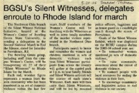 """""""BGSU's Silent Witnesses, delegates enroute to Rhode Island for march"""""""
