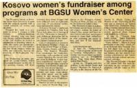 """Kosovo women's fundraiser among programs at BGSU Women's Center"""
