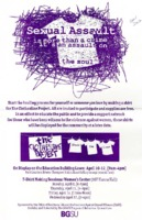 Poster for the Clothesline Project activities