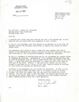 Letter from Ned L. Smith to BGSU President William T. Jerome