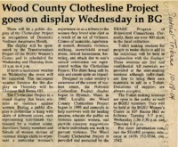 """Wood County Clothesline Project goes on display Wednesday in BG"""