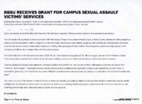 """""""BGSU receives grant for campus sexual assault victims' services"""""""