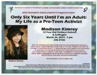 Flier for Women's History Month keynote address