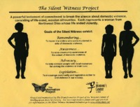 Flier for The Silent Witness Project
