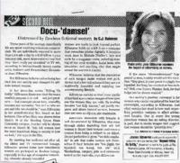 """Docu-'damsel' - distressed by flawless fictional women"""