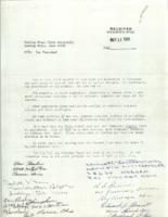 Letter signed by six parents to BGSU President William T. Jerome