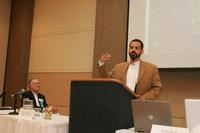 Prof. Rolando Andrade and Prof. Jose Buscaglia at 2007 Latino Issues Conference