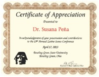 Certificate of Appreciation 19th Annual Latino Issues Conference