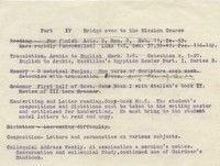 Arabic Course Assignments, 1920