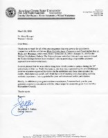 Thank you letter to Mary Krueger