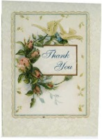 Thank you card sent to Deidra [Bennett] for Michelle M. Rizzi memorial service